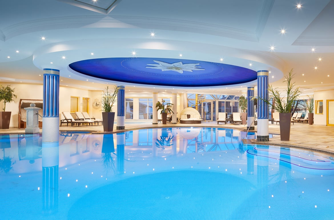 A wellness hotel with a swimming pool